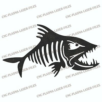 Fish Dxf Sign For Laser Waterjet Plotter Router Plasma Cut Vector File Art