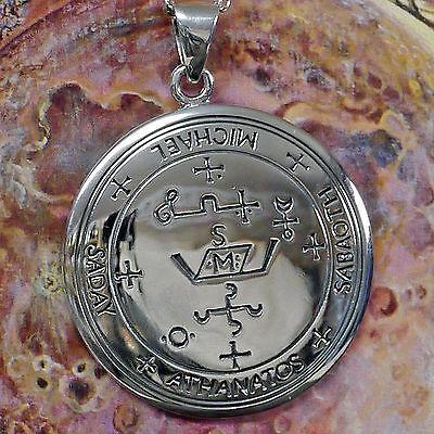 Erzengel Amulett Siegel Michael 925Silber Erzengel Michael Kraftamulett Schutz