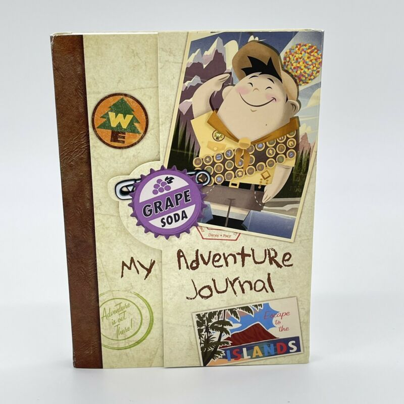 Pixar Russell UP My Adventure Journal Travel Notebook Stickers Postcards Disney