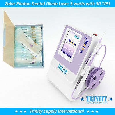Dental Diode Laser 3 Watts 30 Tips Zolar Photon. Power Versatil Unit. Low