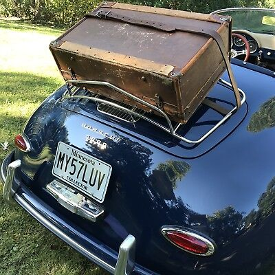 RARE VINTAGE 1930's HERRODS FEATHERWEIGHT LEATHER LUGGAGE RACK SUITCASE  R$1558
