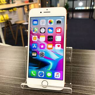 As new iPhone 8 Gold 64G UNLOCKED AU MODEL INVOICE WARRANTY