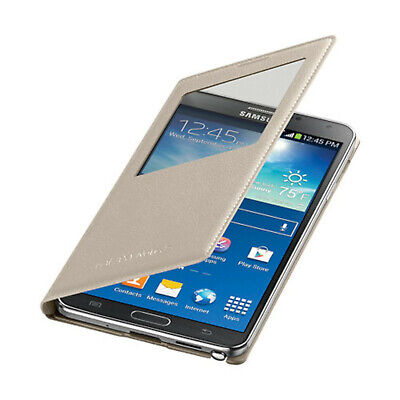 NEW Samsung Case S-View Flip Cover Folio for Samsung Galaxy Note 3 Oatmeal