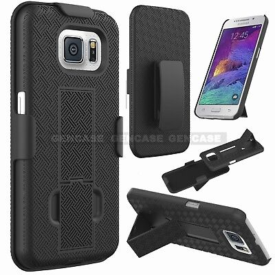 For Samsung Galaxy S6 Shell Holster Combo Case Rotating Belt Clip Kickstand NEW