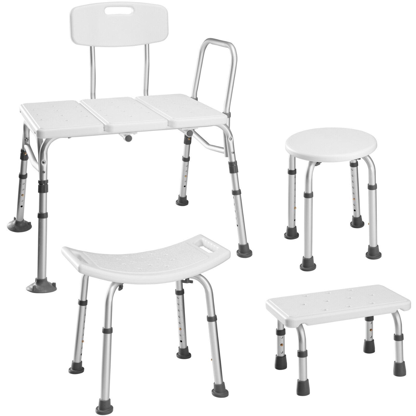 Sgabello per doccia sedia per doccia predellino per vasca altezza regolabile alu
