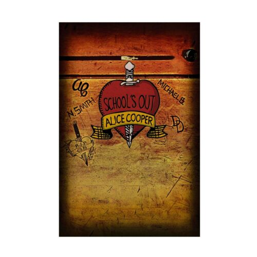 Alice Cooper Schools Out Tapestry Fabric Cloth Poster Flag Wall Banner