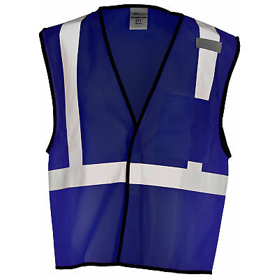Ml Kishigo Non-ansi Reflective Mesh Safety Vest With Pocket Navy