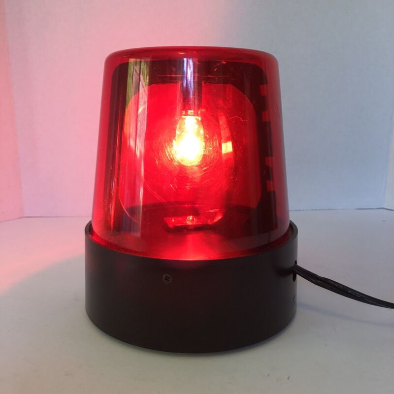 DJ Rotary Flashing Red Light Beacon Fire Red Dance Light  7 inches Tall