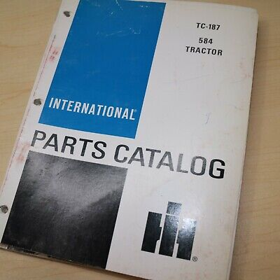 Ih International 584 Tractor Parts Manual Book Spare Catalog Farm List 1985 Oem