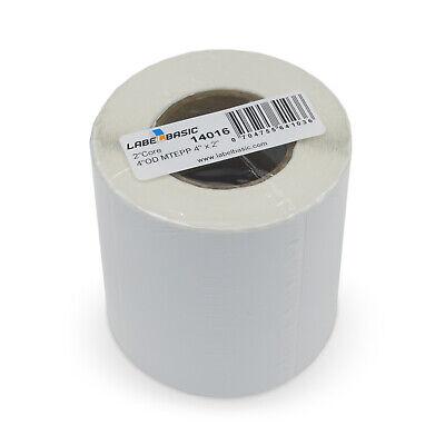 Labels For Primera Lx500 Printer 4 X 2 600 Matte Polypropylene Labels Per Roll