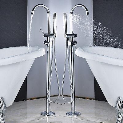 Votamuta Bathroom Tub Filler Free Floor Standing Mount Bathtub Shower Mixer Tap