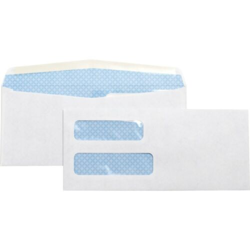 No. 10 Double Window Security Tinted Envelopes 36694 500 Envelopes