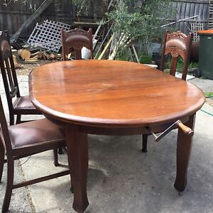 Blackwood Table with Six Chairs! Kew Boroondara Area Preview