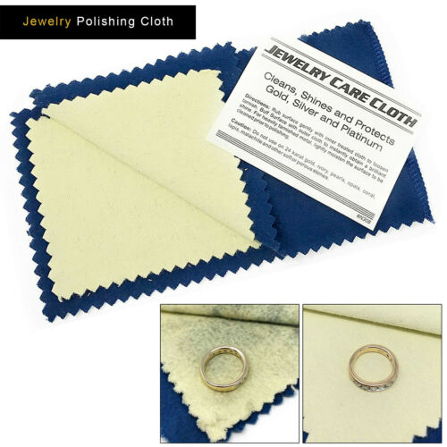 Jewelry Cleaning Polishing Cloth Instant Shine & Protects Gold Silver Brass