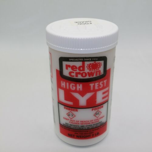 Red Crown High Test Lye for Handcrafted Soap Making FOOD GRADE  2 lb (1-pack)