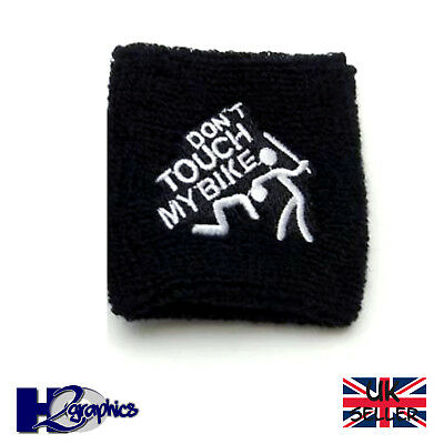 DONT TOUCH BRAKE RESERVOIR SOCK COVER MOTORCYCLE MOTORBIKE SUZUKI YAM