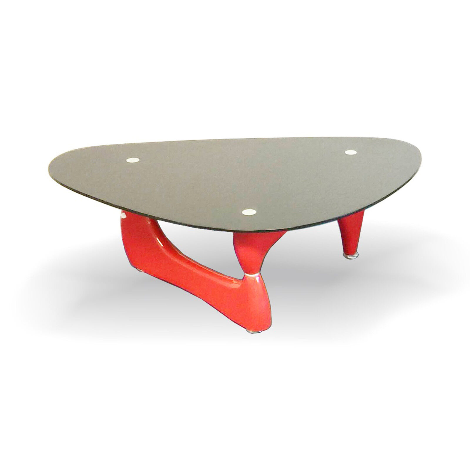 Fab Glass and Mirror Noguchi Style Coffee Table with Clear G