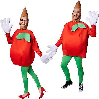Kostüm Apfel Unisex Halloween Karneval Fasching Damen Herren Obst Gemüse (Karneval Halloween Kostüm)