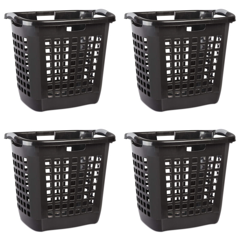 Sterilite Ultra Easy Carry Plastic Dirty Clothes Laundry Basket Hamper (4 Pack)