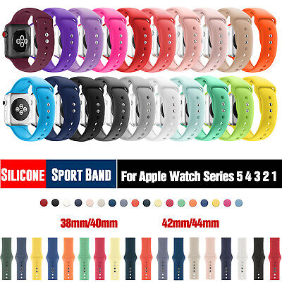 Silicone Sport iWatch Band Wrist Strap For Apple Watch Series 5/4/3/2/1 38/42mm