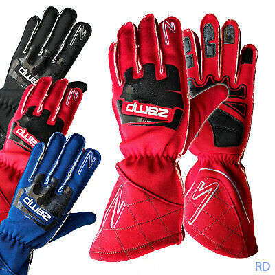 ZAMP - ZR-50 SFI-5 Rated Auto Racing Gloves - External Stitch Fire Driving Nomex Nomex Racing Gloves