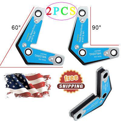 2 Pack Strong Welding Magnetic Corner Holder Magnets 15kgf Strength 60 90