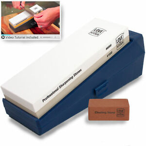 Professional Knife Sharpening Stone Kit Grits 1000 6000 - Chef & Kitchen Knives