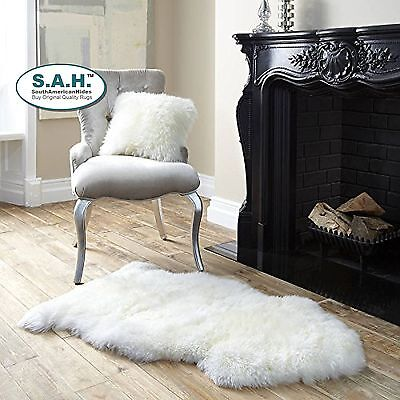 Sheepskin Furry Large Gorgeousl Real Australian Auskin Rug Cream White