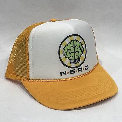 Nerd Neptunes Truckerhut! Retro Baseball Kappe ! n E R D Pharrell Gelb