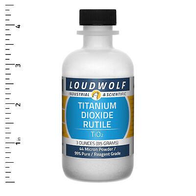 Titanium Dioxide Rutile 3 Oz Reagent Grade 44 Micron Powder Usa Seller