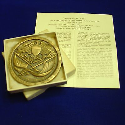 150th Anniversary of Battle of New Orleans (War of 1812) Bronze Medal