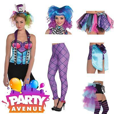 Ladies Mad Hatter Accessories Wonderland Fairy Tale Fancy Dress Costume Lot](Wonderland Accessories)