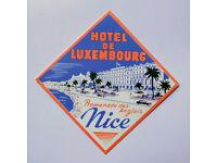 "#2290 Hotel Continental Nurnberg Germany Retro 2.5/""x4/"" Luggage Label Sticker"