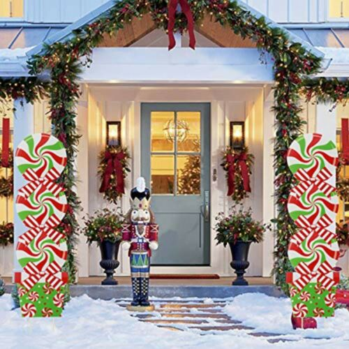 GoGreen Sprouter Candy Christmas Decorations Outdoor - Giant Holiday Decor Signs