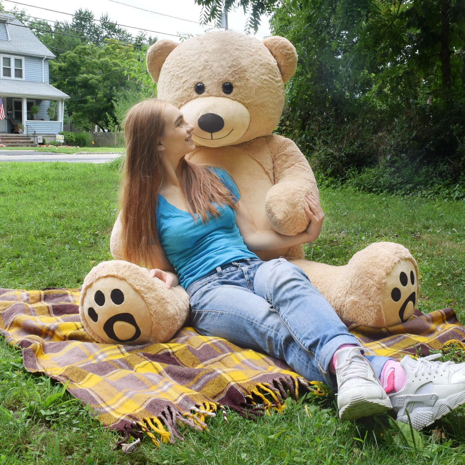 "Giant Teddy Bear Lifesize Soft Stuffed Plush Animal Toy 36"" Valentine Girl Gift"