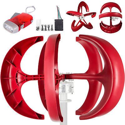 Wind Turbine Generator 400w 12v Wcharge Controller Windmill 5 Nylon Blades Axis