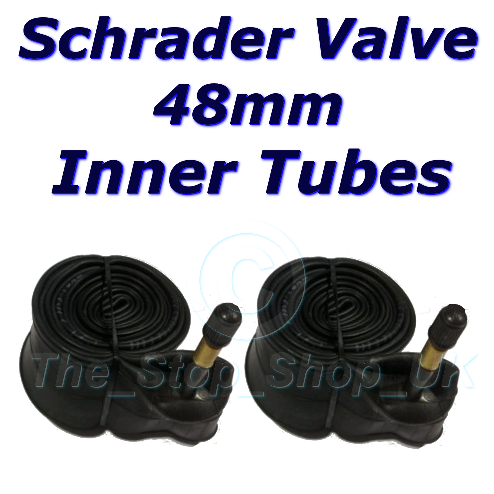 """26/"""" Schrader 48MM LONG Valve Inner Cycle Bicycle Bike Tubes 1.75-2.125 48mm"""