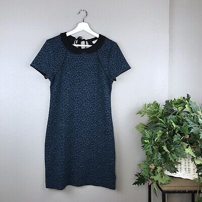 Urban Outfitters Women's Cooperative Blue Leopard Kitty Cake Dress Size Large (Leopard Kitty)