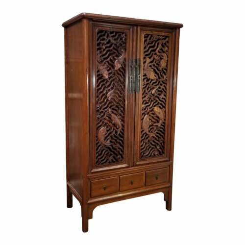 Ealry 20th Century Carved Chinese Cabinet