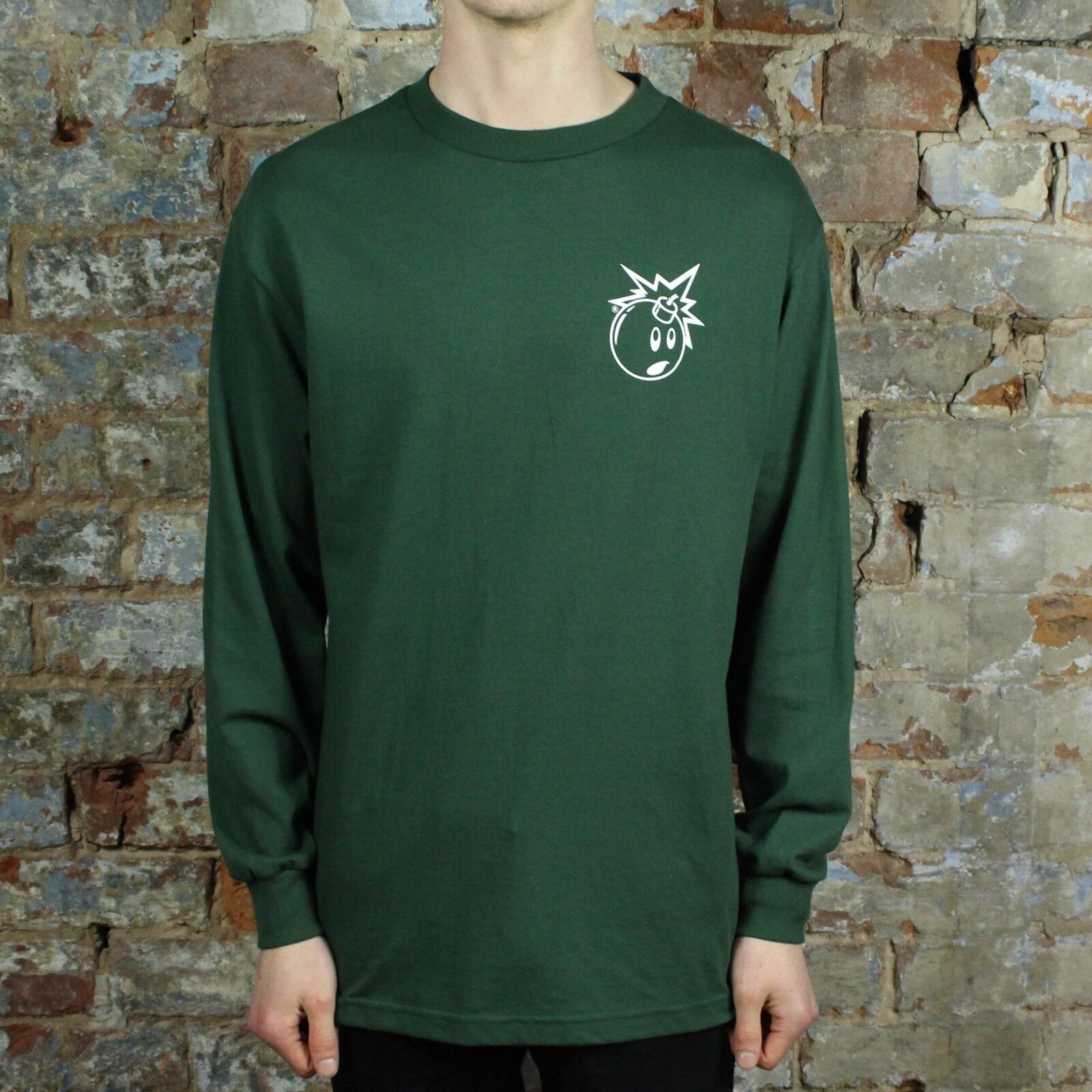 The Hundreds Simple Adam Bomb Long Sleeve T-Shirt New in Forest in Size S,M,L