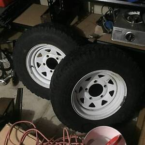 2 x Cooper Discovery S/T Tyres on White Sunraysias Melville Melville Area Preview