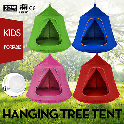 Blue Pink Red Green Hanging Tree Tent Enclosed Safely (Blue Red Tent)