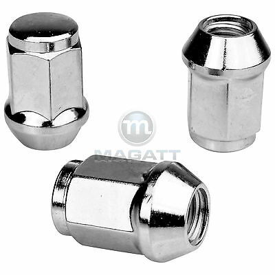 24 Chrome Wheel Nuts for Aluminium Rims SsangYong Korrando Musso Rexton