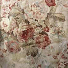 Two pairs Sanderson floral heavy linen curtains Marino Marion Area Preview