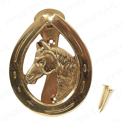 Brass Horse Head Door Knocker PACK OF 5 Traditional Victorian High Quality