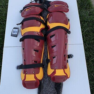 "New Nike Baseball Catchers Gear Leg Shin Guards 17"" $350 Softball Vapor Softball"