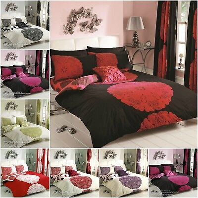 - New Modern Manhattan Printed Duvet Cover Floral Bedding Set All Sizes and Colors