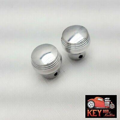 Polished Billet Aluminum Dash Knobs W/Set Screw Lights Wipers  Street Rod PAIR 2 Billet Interior Dash Knobs
