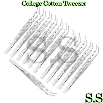 12 College Cotton Dressing Plier 6 Dental Instruments Premium Stainless Steel