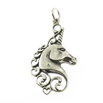 925 Sterling Silver Unicorn Charm Made in USA